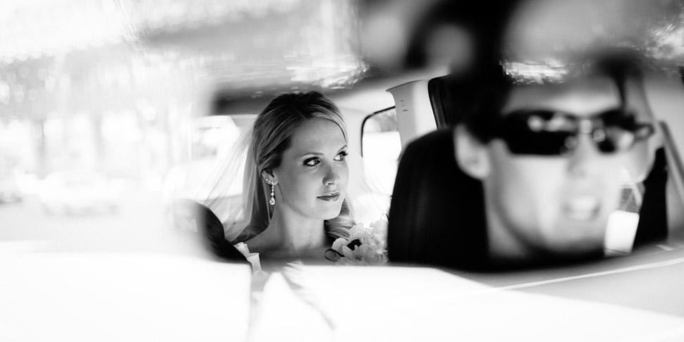 Wedding photographer at Car