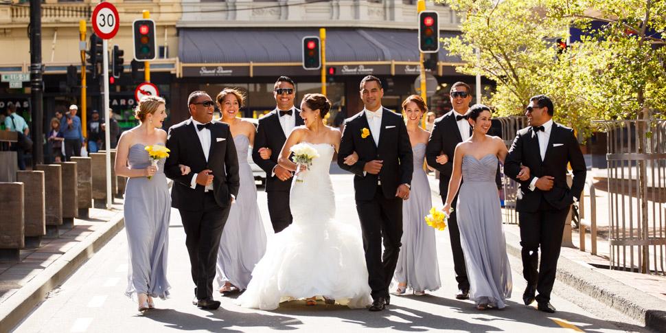 Wellington CBD Wedding photographer