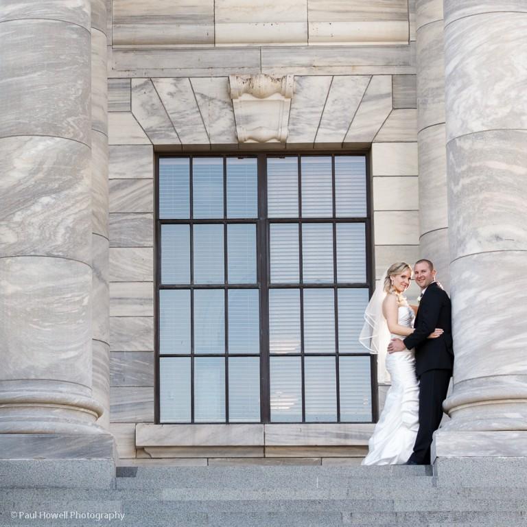 Wedding photos at Parliament in wellington