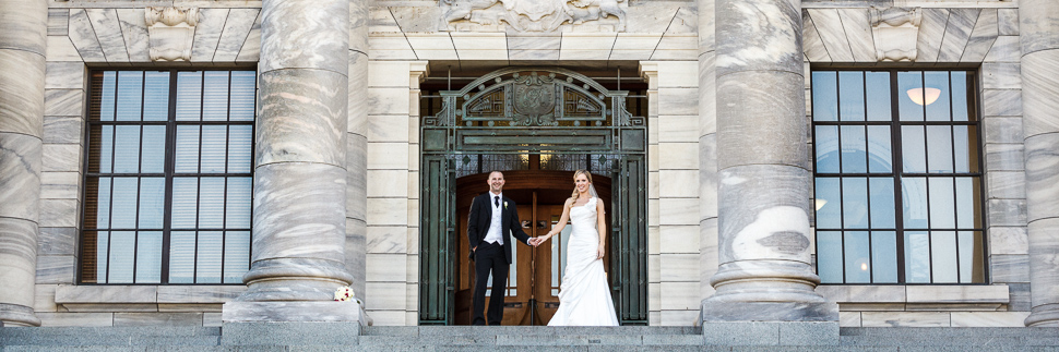 Wedding photography at wellington parliament