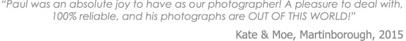 Poppies Wedding Photographer testimonial